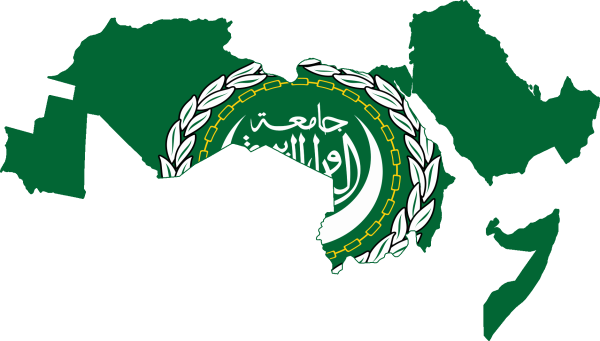 Flag Map Of Arab League