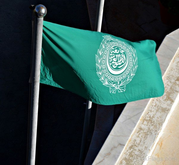 Waving Arab League Flag